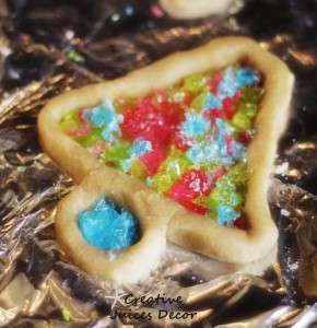 stained glass cookie craft