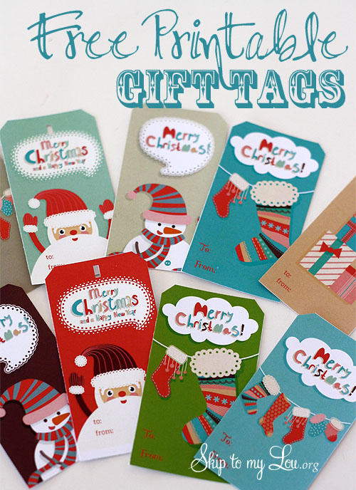 Free christmas tags for gifts printable