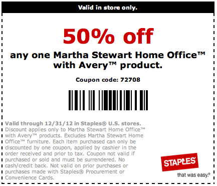 Avery printable coupons