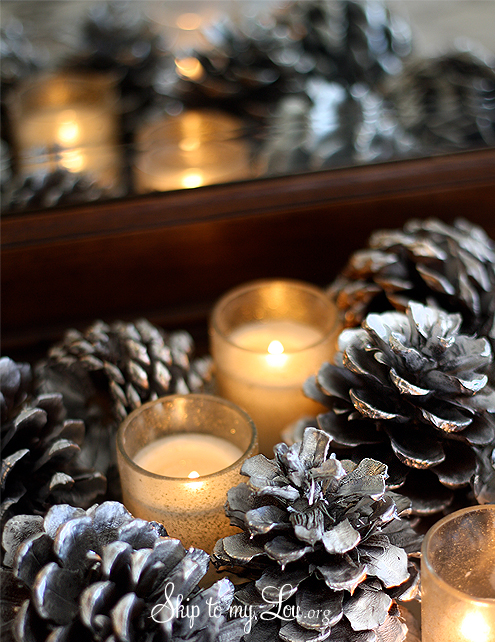 Diy centerpieces skip to my lou for Pinecone centerpieces