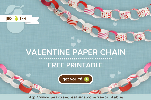 Free printable valentine paper chain by pear tree greetings skip we m4hsunfo