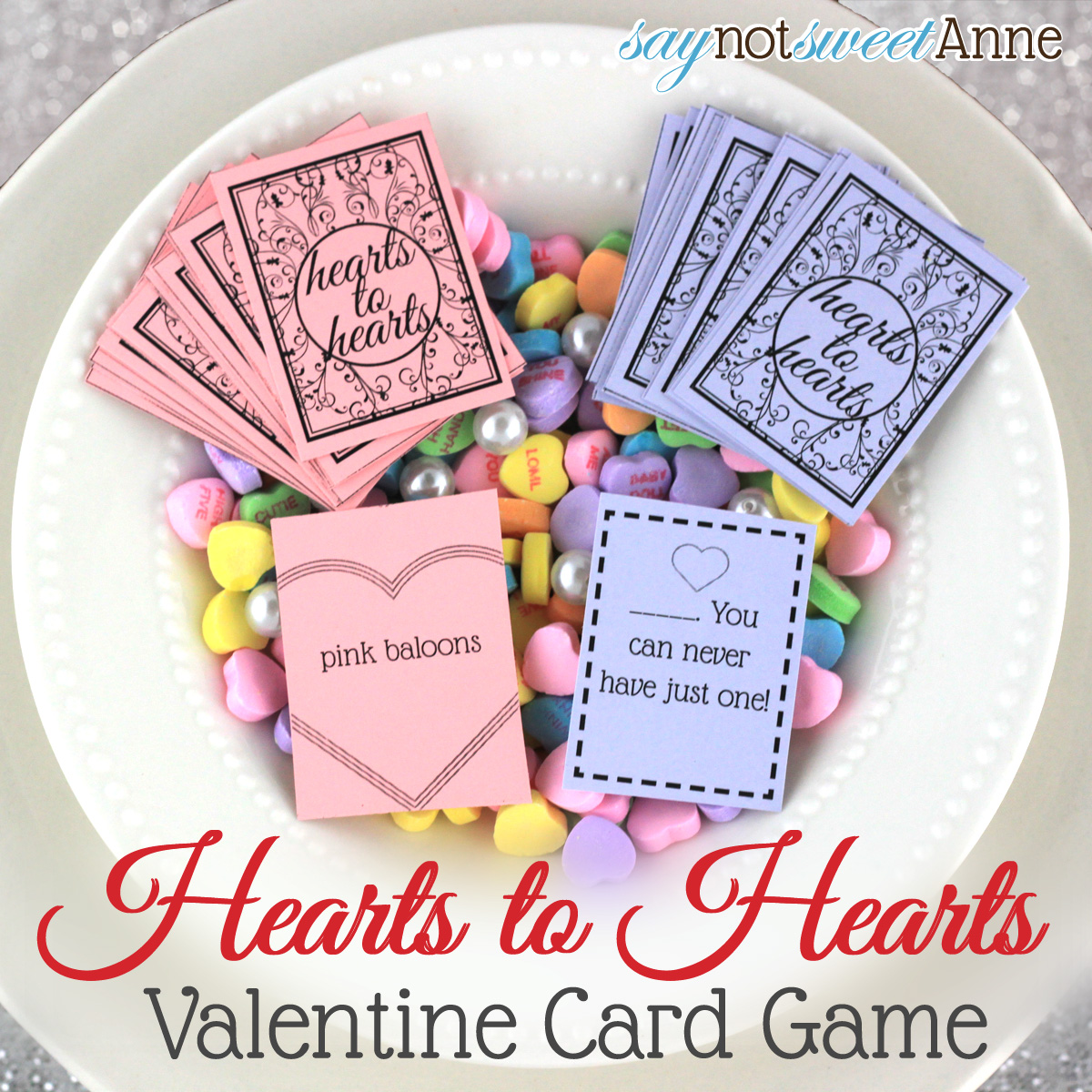 Hearts to Hearts, A Printable Hearts Card Game For Valentine\'s Day