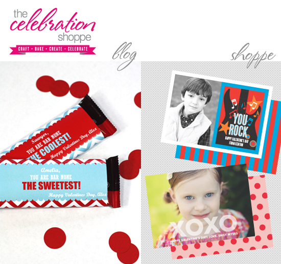 You Rock Printable Class Valentines by The Celebration Shoppe – Class Valentine Cards