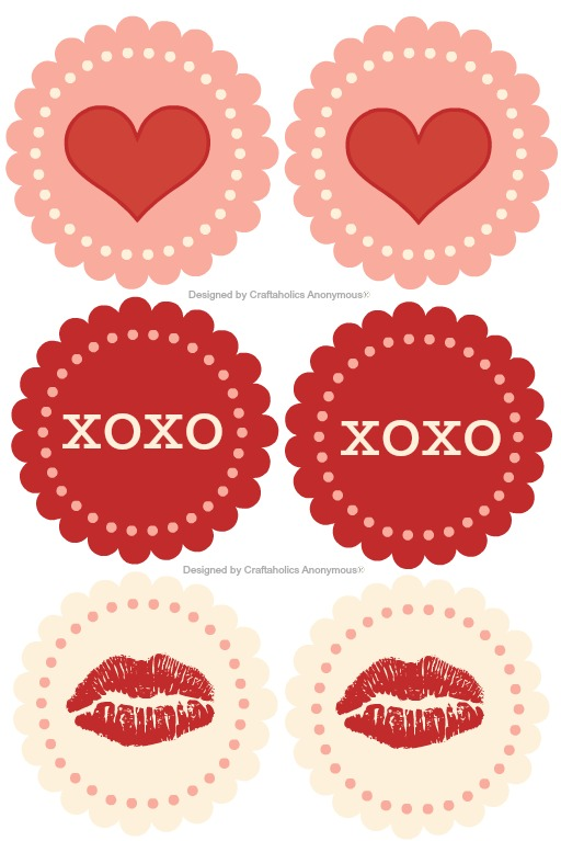 graphic relating to Printable Cupcakes Toppers titled valentine cupcake toppers