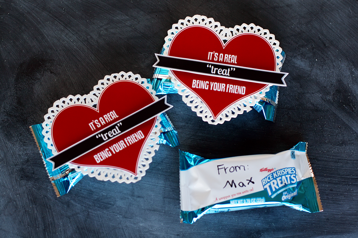 its a real treat class valentines - Valentines For Kindergarten Class