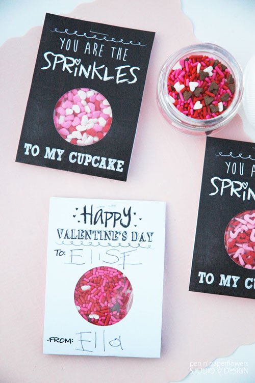 Finished DIY Chalkboard Art Valentine's Day Cards