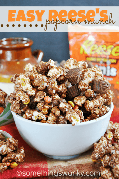 popcorn flavored with Reese's peanut butter cups