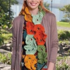 Frilly Crochet Scarf