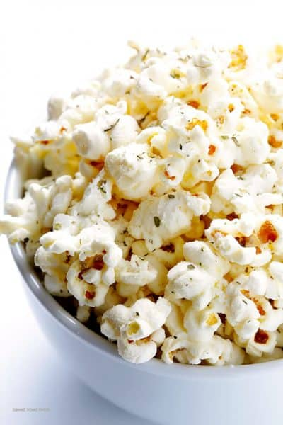 Olive oil and Parmesan popcorn