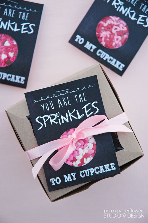The recipient of this fun Valentine will enjoy decorating their cupcake AND eating their treat