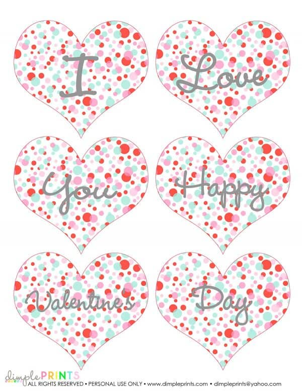 polka dot heart on white page