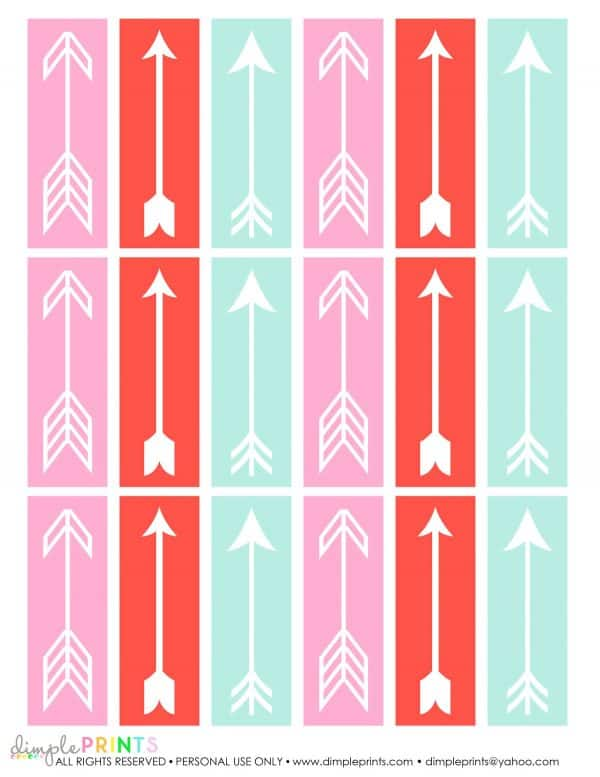 pink red and green arrows
