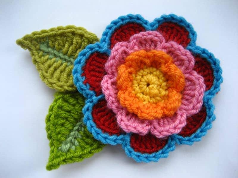 Фото мастер класс вязания цветов крючком