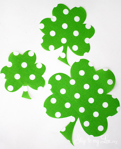 St Patricks day Shamrock craft Silhouette PORTRAIT Giveaway – Shamrock Template