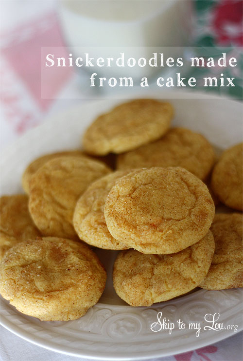 Snickerdoodle Cookies Using Cake Mix