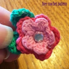 crochet flower magnet
