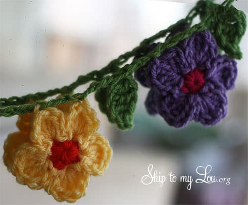 Crochet Flower Garland Skip To My Lou