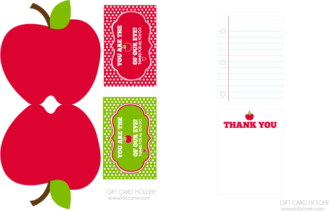 You are the apple of my eye teacher appreciation printable