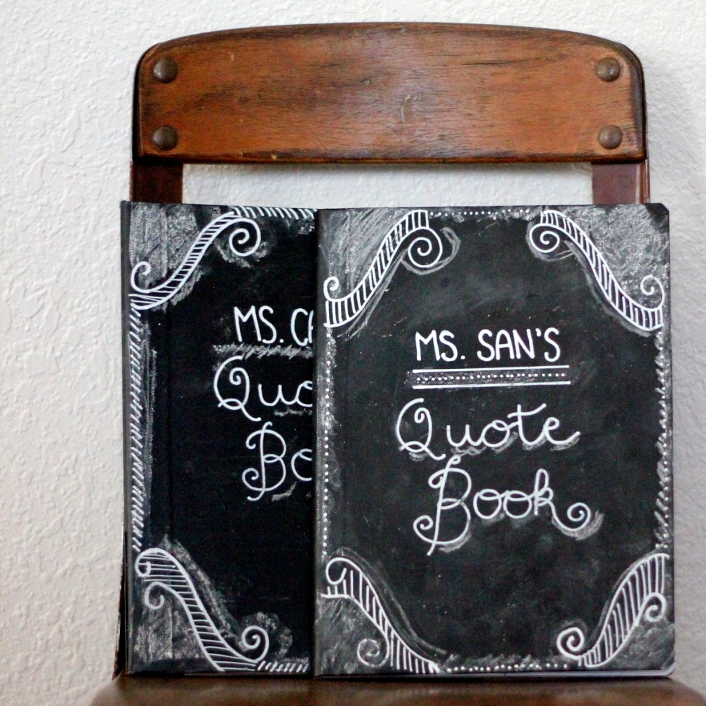 teacher appreciation gift idea- chalkboard journal