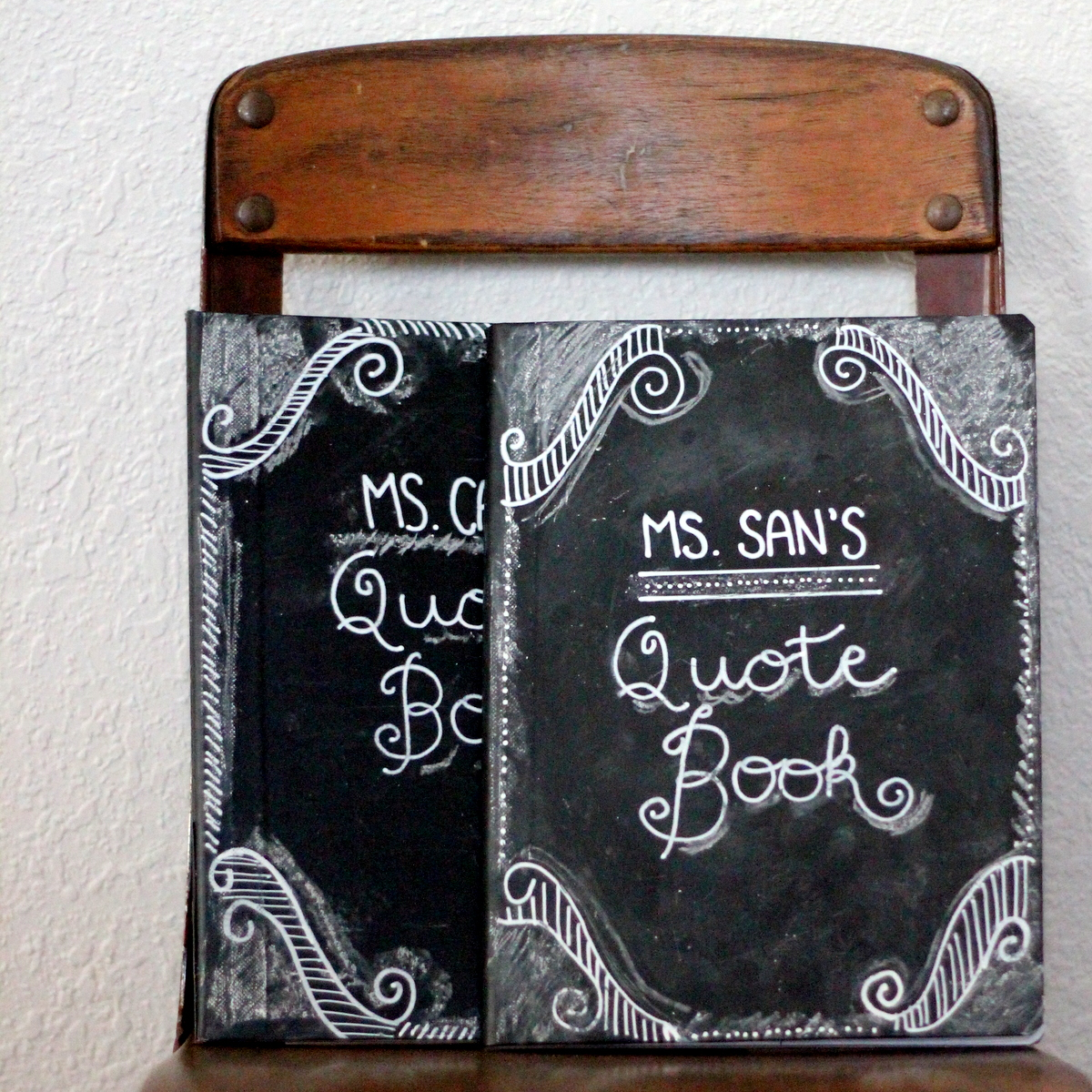 teacher appreciation gift idea chalkboard journal