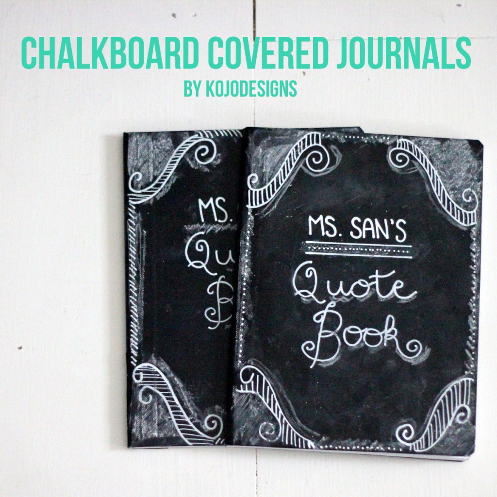 how to make chalkboard journals as teacher appreciations gifts