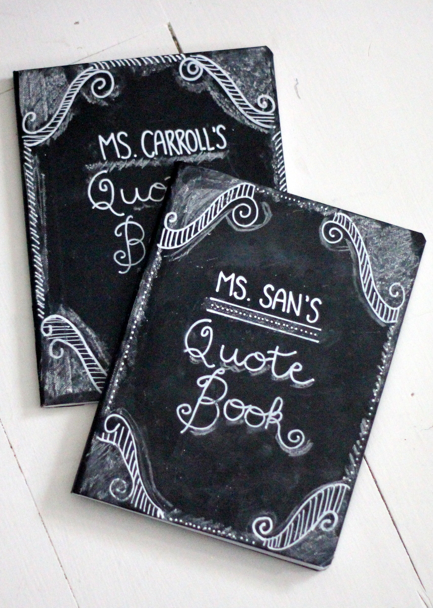 How to make chalkboard journals by kojo designs skip to for Back to school notebook decoration ideas