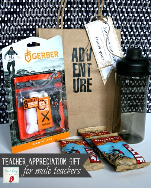 Summer Survival Kit Male Teacher Appreciation Gift