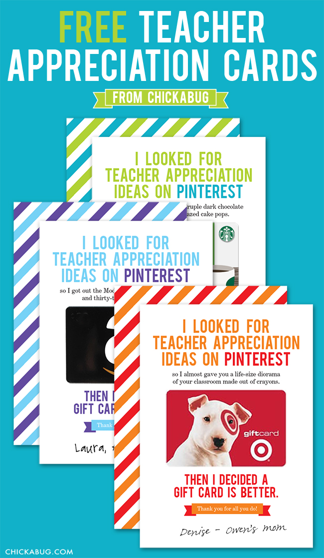 Free printable teacher appreciation cards cute and funny!