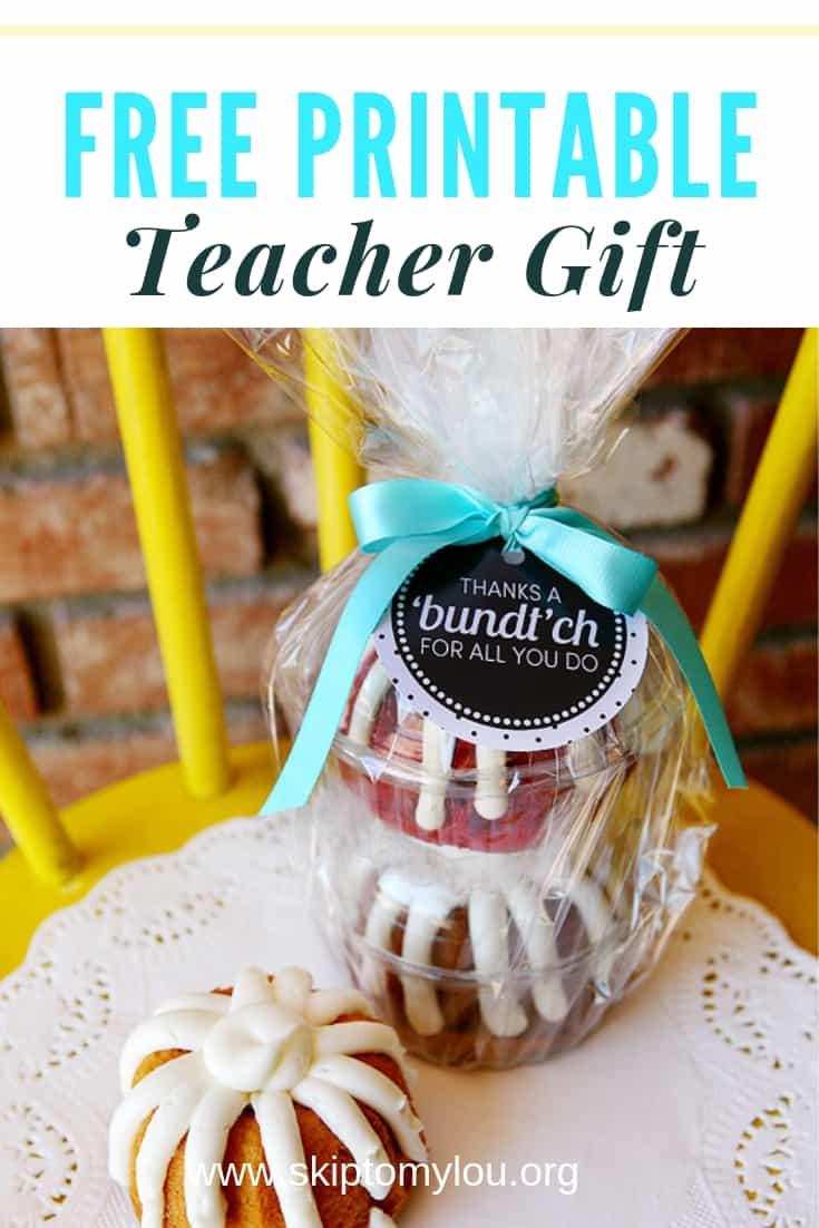 free printable teacher gift