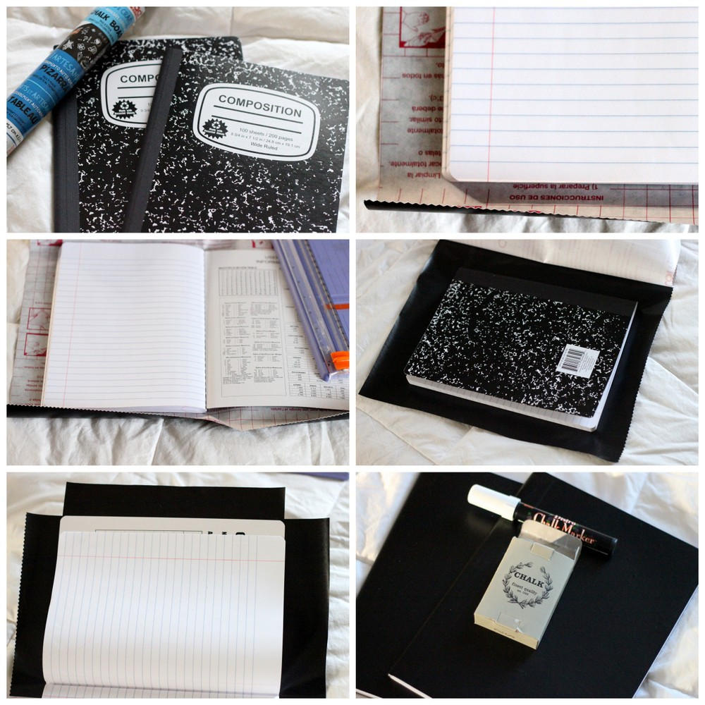 how to make a chalkboard journal
