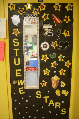 Classroom Decor Stars ~ Teacher appreciation door ideas