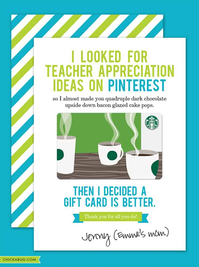 Free Printable Teacher Appreciation Cards To Say Thank You