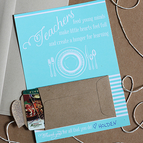 photo relating to Printable Restaurant Gift Cards named Instructor Appreciation Reward Card Printable