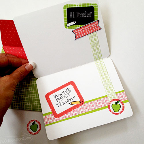 Decorate the inside of the card