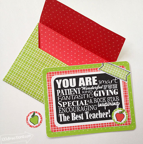 Teacher appreciation card designed by Jen Goode