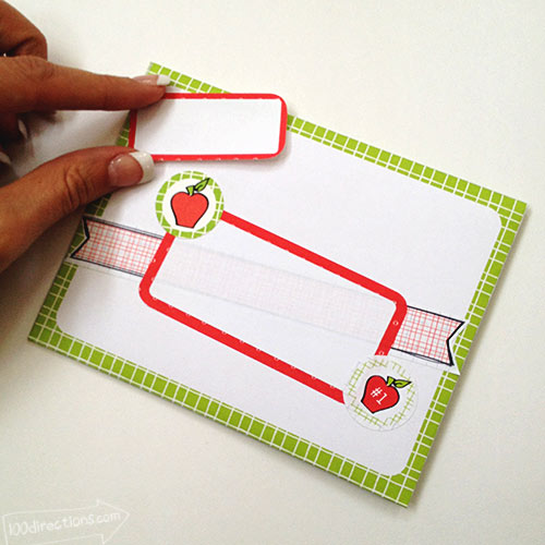 Decorate the outside of the envelope