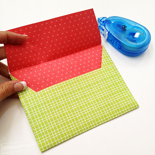 Finish folding and gluing envelope together