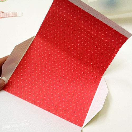 Glue envelope inside piece