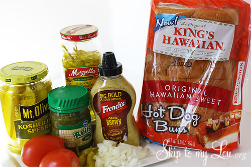 Chicago Dog Ingredients