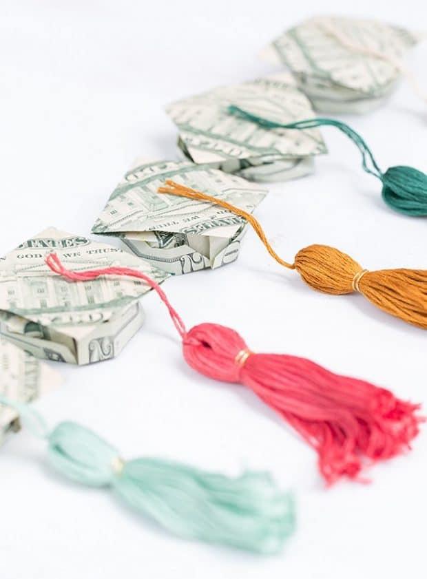 origami graduation hats