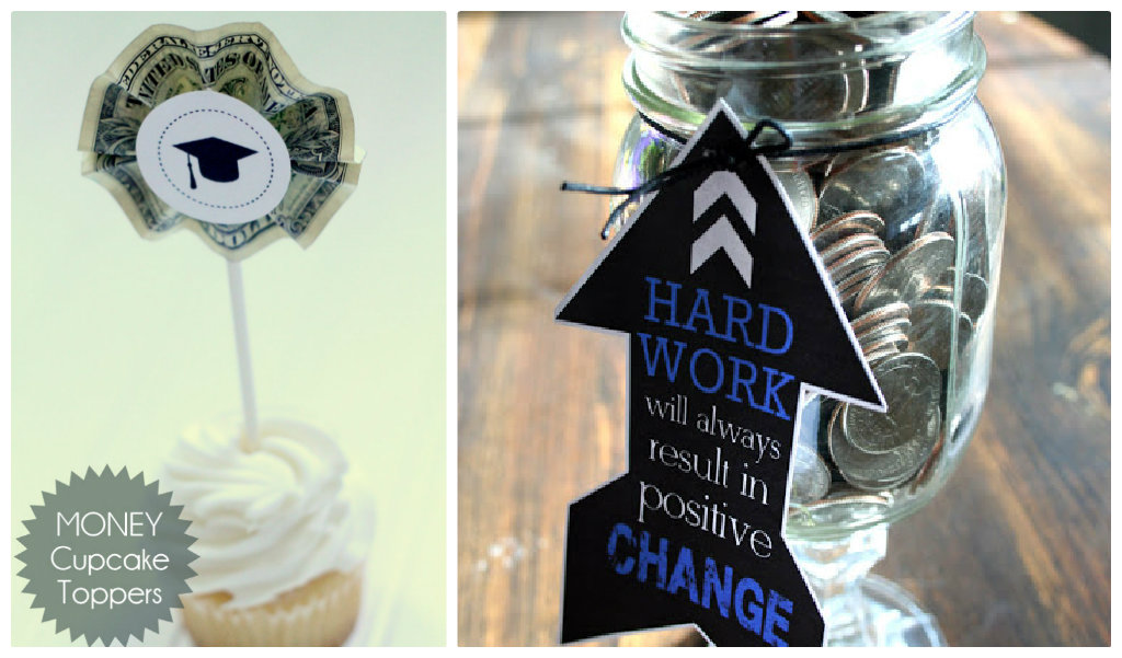 Grad cupcake toppers