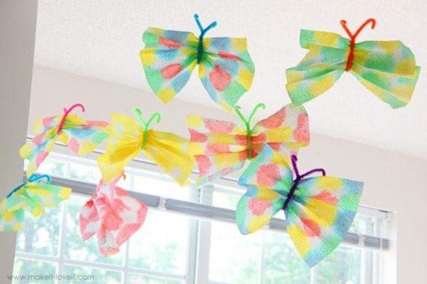 indoor craft paper towel butterflies