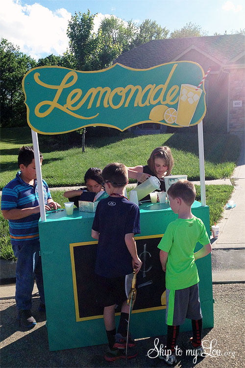 free wooden lemonade stand plans
