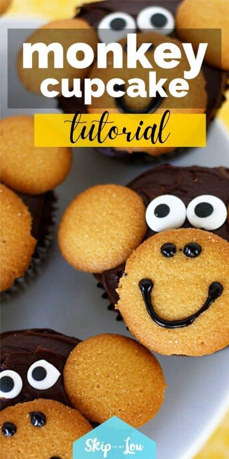 monkey cupcake tutorial PIN
