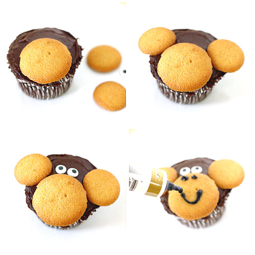 monkey cupcake tutorial