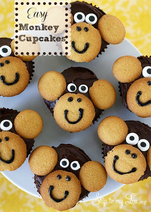 Monkey Cake Design Easy : Easy Monkey Cupcakes