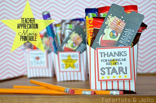 Teacher Appreciation Gift Movie Gift Card Idea
