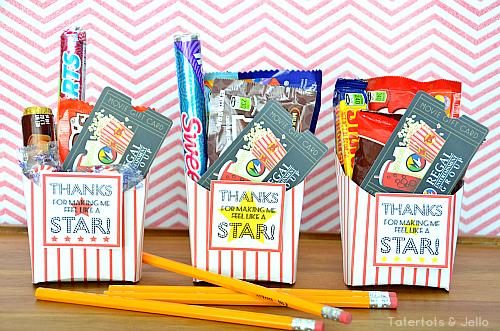 Teacher Appreciation gift: Movie gift card idea