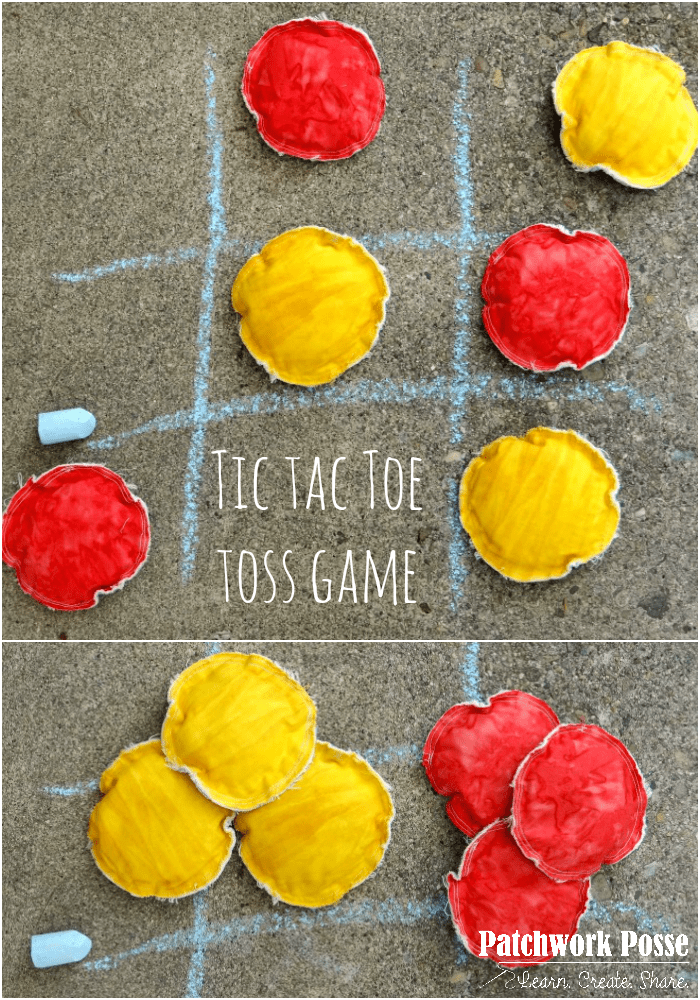 boredom buster outdoor tic tac toe toss game