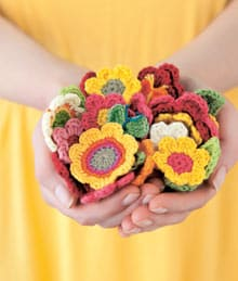 Crocheted-flowers pattern